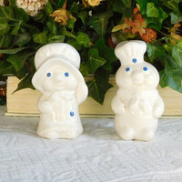 Pillsbury Doughboy Salt and Pepper Shakers Vintage 1988 Kitchen Decor Shakers Set