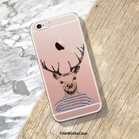 iPhone 7 Case Clear Deer iPhone 6s Plus Case Clear Case Hipster iPhone Case Clear Samsung S7 Clear Case Bohemian Deer iPhone 6S Case