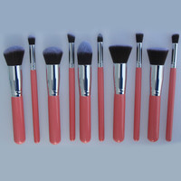 Pink Makeup brushes Set Powder Foundation Face Eye Eyeshadow Lip Blush Brushes - Sheinside.com