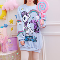 Kawaii Printed Oversized Sweater Dress