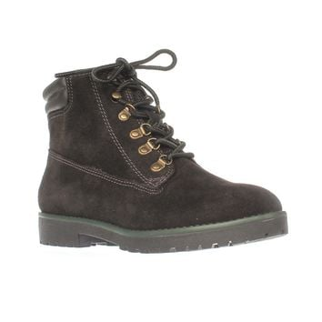 Lauren Ralph Lauren Mikelle Work Boots, Dark Chocolate/Dark Chocolate, 10 US / 41 EU