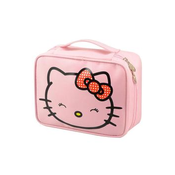 Waterproof Cosmetic Bag Cute Makeup Organizer Case Travel Hello Kitty Beautician Beauty Suitcase Accessories Supplies Products