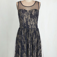 Mid-length Tank top (2 thick straps) A-line Put on a Happy Lace Dress by ModCloth