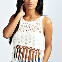 Claire Tassel Crochet Top