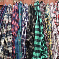 Vintage Flannel Shirt Plaid / Oversize Boho and Grunge Mystery Flannel