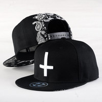 New Brand Bone s Embroidery Cross snap back