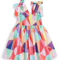 Infant Girl's Halabaloo 'Kaleidoscope' Smock Dress