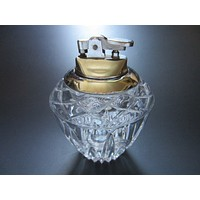 Crystal Table Lighter White Metal Japan Movable Topper