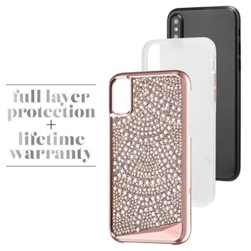 Case-Mate iPhone X Case - BRILLIANCE - 800+ Genuine Crystals - Protective Design for Apple iPhone 10 - Lace