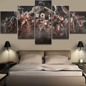 Framework 5 Piece Canvas Avengers Infinity War Cuadros Decoracion Paintings on Canvas Wall Art for Home Decorations Wall Decor