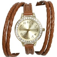 Double Braid Wraparound Watch | Shop Trending Now at Wet Seal