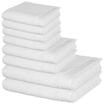 MV 8 Pcs Premium Cotton Towel Set, 2 Bath Towels, 2 Hand Towels and 4 Washcloths