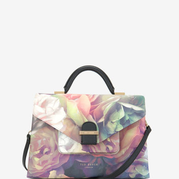 Large Technicolour Bloom tote bag - Black | Bags | Ted Baker UK