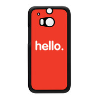 Hello Black Hard Plastic Case for HTC One M8 by textGuy