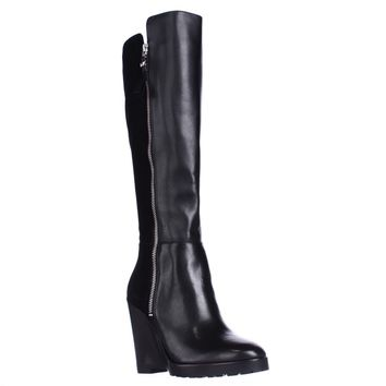 MICHAEL Michael Kors Clara Knee High Wedge Boots, Black, 5 US / 35 EU
