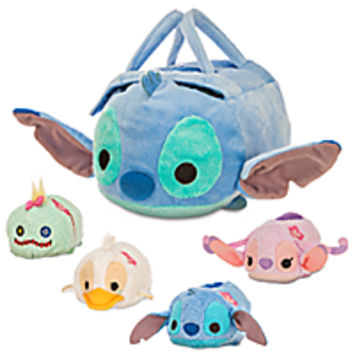 Stitch ''Tsum Tsum'' Plush Set - Small Bag - 8'' - Plus 4 Minis - 3 1/2''