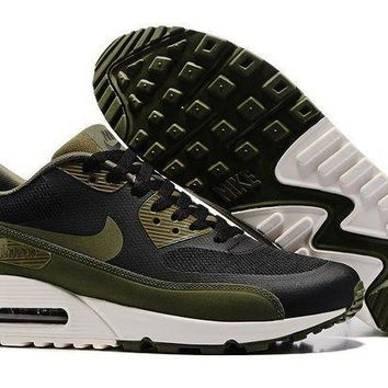 PEAPONVX Jacklish Nike Air Max 90 Ultra 2.0 Essential Black/legion Green Online