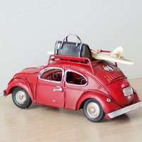 Red VW Beetle miniature