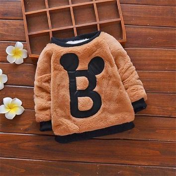 BibiCola 2018 winter baby boys sweaters clothing warm thick sweater for infant boys autumn baby toddler thermal coat clothes