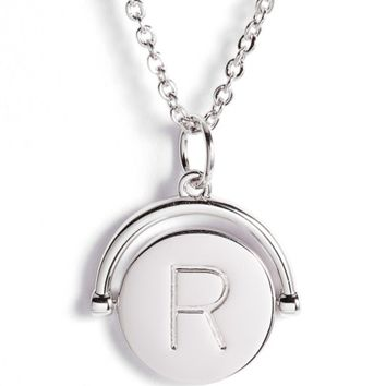 lulu dk Love Letters Initial Spinning Pendant Necklace | Nordstrom