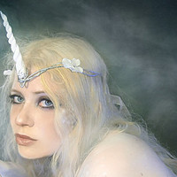 Unicorn horn headpiece - Custom color options available