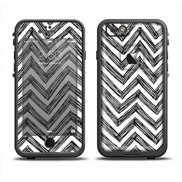 The Sketch Black Chevron Apple iPhone 6 LifeProof Fre Case Skin Set