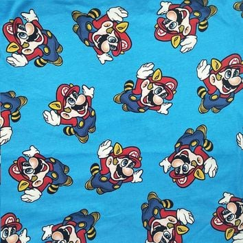 Super Mario party nes switch Good Jersey Cotton Knit Fabric Cartoon  Print Fabric Quilting Patchwork DIY Sewing Baby T-shirt Clothing Wide 160cm AT_80_8