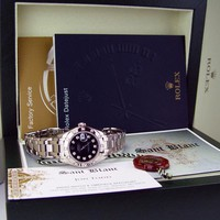 ROLEX - Ladies 18kt White Gold MASTERPIECE Black Diamond Dial - 80319 SANT BLANC