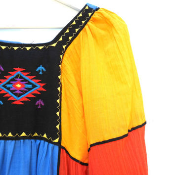 Boho dresses, Bohemian maxi dress, Mexican dresses, Boho clothing, Bohemian maxi dresses, Long bohemian dresses, Long sleeve bohemian dress