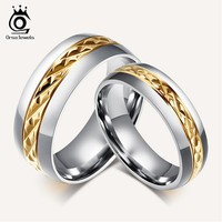 ORSA JEWELS Fashion Lead & Nickel Free Stainless Steel Couple Rings Set Jewelry Ring for Men Women Engagement Wedding Ring OTR70