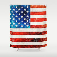 American Flag Art - Old Glory - By Sharon Cummings Shower Curtain by Sharon Cummings
