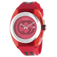 Mens' Gucci Extra Large Gucci Sync Red Watch - Online Exclusive