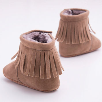 HOT Newborn Infant Baby Girls Soft Sole Cotton Booties Fabric Toddler First Walker Baby Shoes NW