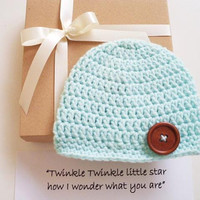 Grandparents Baby Announcement Pregnancy Gender reveal box Baby Hat Neutral Newborn hat Pregnancy Reveal to Grandparents Reveal to family