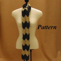 Easy Crochet Scarf Pattern Zig Zag Motif pdf ok to sell