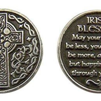 Religious Gifts Silver and Black Tone Devotional Prayer Token 1 18 Inch