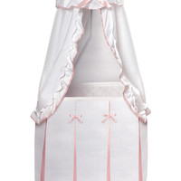 Badger Basket Majesty Baby Bassinet with Canopy - Pink
