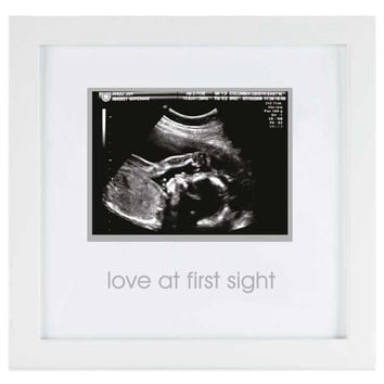 Pearhead 3-Inch x 5-Inch Sonogram Wood Frame in White