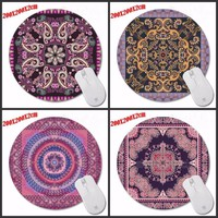 Printing Fashion  Persian carpet  Gaming Mousepad Anti-Slip PC Laptop Gamer Speed Mice Rug Mat Rubber Round Mouse Pad