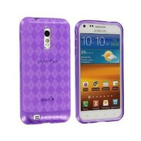 Electromaster(TM) Brand - Purple TPU Candy Rubber Skin Case Cover for Samsung Epic Touch 4G Sprint Galaxy S II