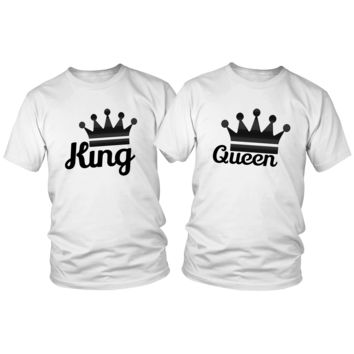 King and Queen His and Hers T-Shirt Set