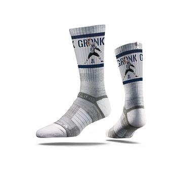 NFLPA - Rob Gronkowski - Spike, Grey - Strideline Crew Socks