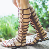 Roma Gladiator Sandals in Brown