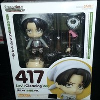 Good Smile Company Nendoroid 417 Attack on Titan Levi: Cleaning Ver. Figure
