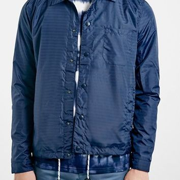 Men's Topman Navy Stripe Coach Jacket,