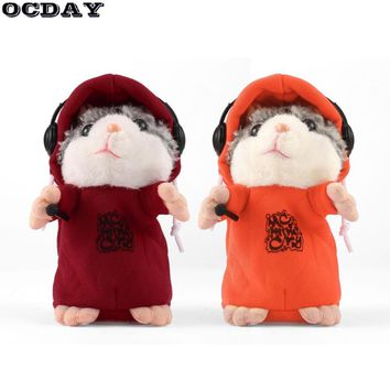 Talking Hamster Stuffed Plush Toy Cute Mouse Pet Toy Speak Sound Record Hamster Educational Toys for Children Girls brinquedo