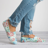 Spring Canvas Shoes - Floral Mint