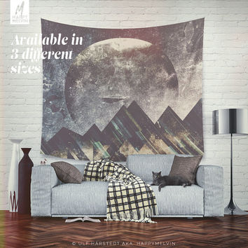 Sweet dreams mountain - Wall tapestry - Tapestry - Boho - Wall hanging - Mountain tapestry - Wanderlust - Nature - Bohemian - 3 sizes