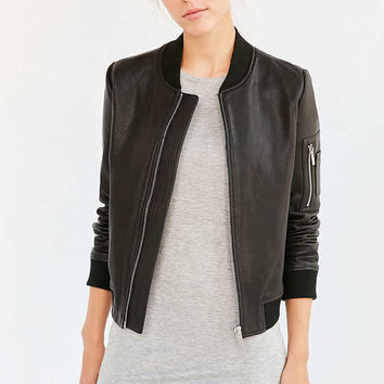 Bagatelle Its Real Leather Bomber Jacket - Urban Outfitters