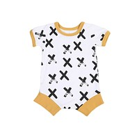 Newborn Baby Boy Clothes Short Sleeve Romper Jumpsuit Outfits Clothing